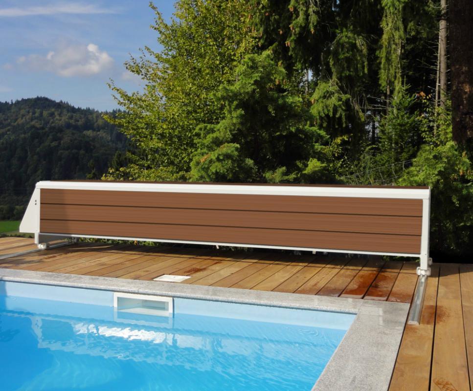 Rollladenabdeckung Walu Roll Banc Solario (Holz) 3,00 x 5,00 m