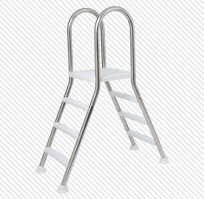 Leiter E 120 mit Kunststoff Stufen 2x4 Stufen,Plattform 120 cm B