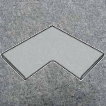 Innenecke (gerade Kante) 500 x 300 – 370 x 40 mm Luserna