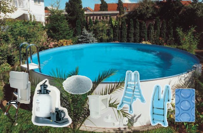 Rundbeckenset sunny pool 5 0 x 1 20 m set b for Poolfolien rundbecken