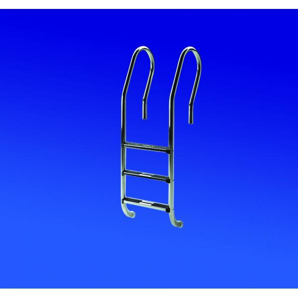 Schwimmbad edelstahl leiter 2 stufig komfort mit va stufen for Edelstahl schwimmbad