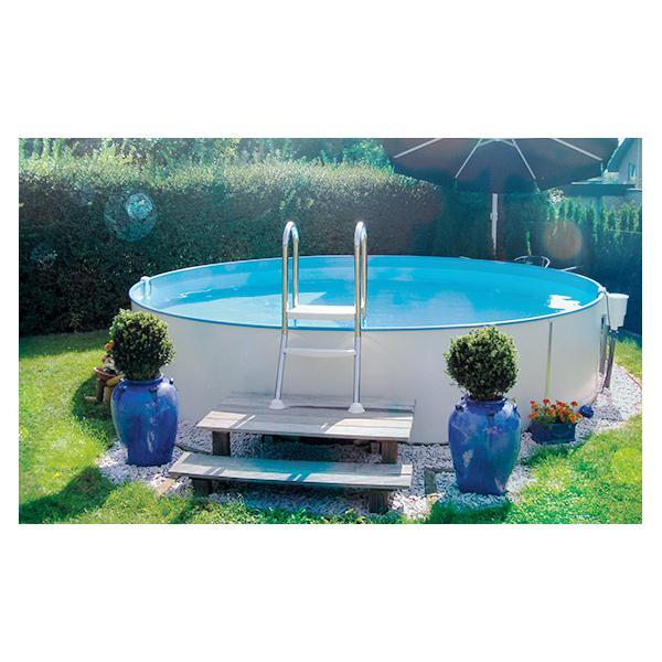 Hobby Pool Stahlmantelbecken Milano O 5 00 X 1 30 M Grau